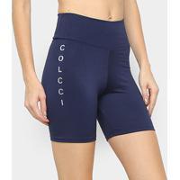 Short Colcci Fitness Cintura Alta Feminino - Feminino-Marinho