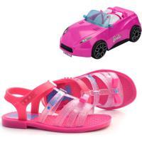 Sandália Infantil Barbie Pink Car + Brinde
