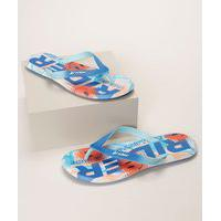 Chinelo Masculino Rider R1 Vibes Emoticons Azul