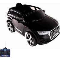 Carrinho Infantil Elétrico Audi Q7 Suv, 12V Com Controle Remoto Belfix Bel Brink Preto - Unissex-Preto