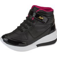 Tênis Sneaker Joys Shoes Flat Form Preto/Pink