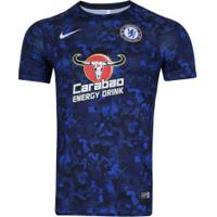 Camisa Pré-Jogo Chelsea 18/19 Nike - Masculina - Azul Esc/Azul