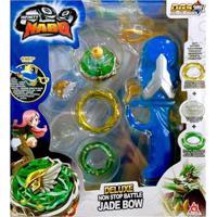 Pião De Batalha - Infinity Nado - Deluxe Non Stop Battle Jade Bow - Azul - Candide