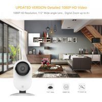 Câmera De Segurança Inteligente Wifi Hd Yi À Prova D'Água Detectação Humana/Movimento Visão Noturna