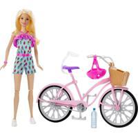 Boneca Barbie E Veículo - Barbie E Bicicleta - Mattel