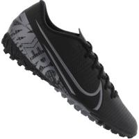 Chuteira Society Nike Mercurial Vapor 13 Academy Tf - Adulto - Preto/Cinza