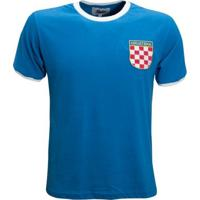 Camisa Liga Retrô Croácia 1990´S - Masculino-Azul Royal