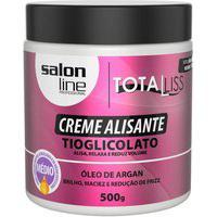 Creme Alisante Óleo De Argan Medio Salon Line 500Gr