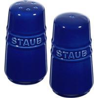Saleiro E Pimenteiro De Cerâmica Staub Azul Marinho 7Cm - 24690