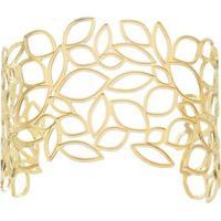 Bracelete Com Recortes Vazados- Dourado- Regulávelpri Schiavinato