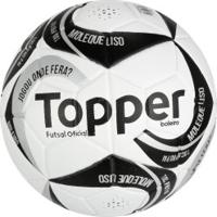 Bola De Futsal Topper Boleiro - Branco Prata bf5693a0efce8
