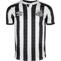 Camisa Do Santos Ii 20 Umbro - Masculina - Branco/Preto