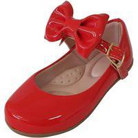 Sapatilha Infantil Milu Fashion Com Laço Vermelha
