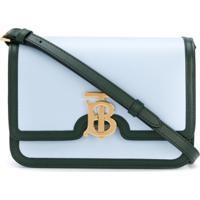 Burberry Bolsa Tiracolo Com Placa De Logo - Azul