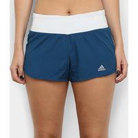 Short Adidas Run It Feminino - Feminino-Marinho+Branco