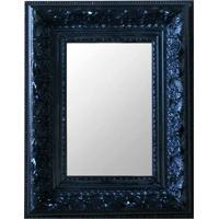 Espelho Moldura Rococó Raso 16142 Preto Art Shop