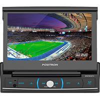 Dvd Player Automotivo, Pósitron, Sp6720, Preto/Cromo
