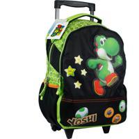 Mochila Com Rodinhas Super Mario 8729854 Verde