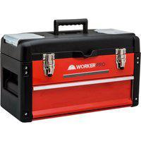 Caixa Para Ferramentas Worker 428345 1 Gaveta Vermelha/Preta
