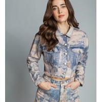 Jaqueta Manga Longa Cropped Jeans - Lez A Lez