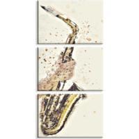 Kit 3 Telas Canvas Saxofone Médio