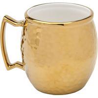Caneca Moscow Mule Vera Gold- Dourada & Branca- 10Xørojemac