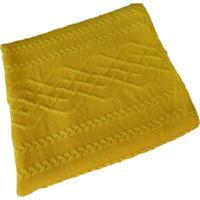 Manta Tricot Decorativa Cama Sofá 120Cm X 150Cm Cod 1026.5 Amarelo