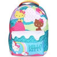 Mochila Escolar Infantil Xeryus Hello Kitty - Feminino-Verde+Rosa