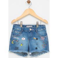Short Infantil Em Jeans - Tam 5 A 14