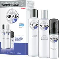 Kit Nioxin 6 Cleanser Shampoo 150Ml + Condicionador 150Ml + Leave-In 50Ml - Unissex-Incolor