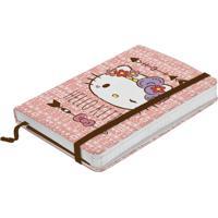 Caderno De Anotações Rosa 100 Folhas Hello Kitty Grande Urban