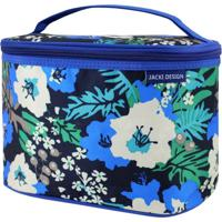 Necessaire Frasqueira Estampada Tam. G Jacki Design Miss Douce Azul Floral