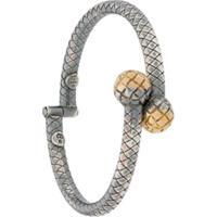 Bottega Veneta Dichotomy Cuff Bracelet - Prateado