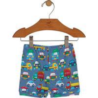 Short Carros- Azul & Amareloup Baby - Up Kids