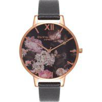 Relógio Olivia Burton Feminino Couro Preto - Ob15Wg12
