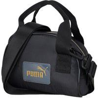 Bolsa Puma Core Pop Mini Grip 077929-01, Cor: Preto/Dourado, Tamanho: Único