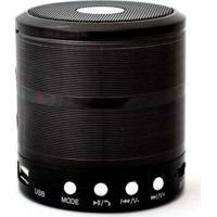 Caixa De Som Bluetooth Mini Speaker Space Line Ws-887 Preta