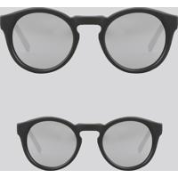 0cabba2d395e4 ... Kit De Óculos De Sol Redondo Espelhado Tal Mãe Tal Filha Oneself Preto  - Único