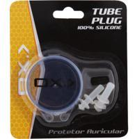 Tampão Protetor De Ouvido Para Natação Oxer Tube Plug - Adulto - Branco