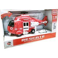 Helicóptero De Resgate Com Luz E Som - Helicoptero Resgate Bbr Toys