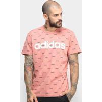 Camiseta Adidas Core Favourites Masculina - Masculino-Salmão+Branco