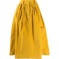Marc Jacobs Saia Midi De Veludo Cotelê - Amarelo