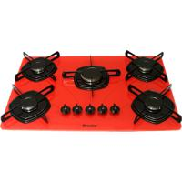 Cooktop 5 Bocas Braslar Ultra Chama Vermelho Bivolt - 10050009