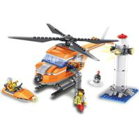 Blocos De Montar - 343 Peças - Helicóptero De Resgate - Fanfun