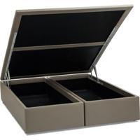 Base Para Cama Box Queen Physical Ll Com Baú (39X158X198) Bege