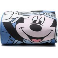 Edredom Mickeyâ® Aviador Solteiro- Azul & Preto- 150Xsantista