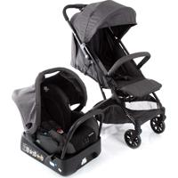 Carrinho De Bebê Travel System Skill Trio Black Denim Safety 1St
