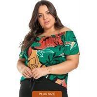 Blusa Feminina Ciganinha Verde