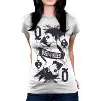 Camiseta Baby Look Hshop Queen Of Spades Branco