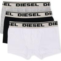 Diesel Kids Conjunto 3 Cuecas Boxer Com Logo - Preto